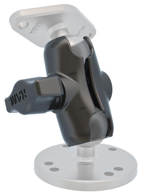 "RAM Short Double Socket Arm for 1"" Ball Bases. Overall Length: 2.38""  RAM-B-201U-A"