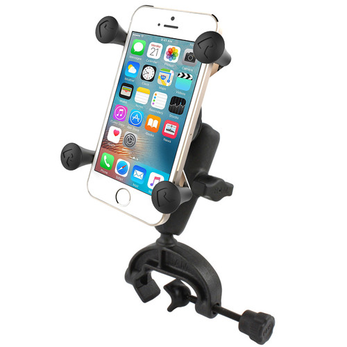 """Shown: Cell Phone Mount, Yoke Clip, and 3.69"""" arm"""