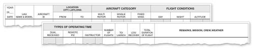 ASA Softcover Drone Logbook  ASA-SP-DRONE 9781619549982 SkySupplyUSA.com