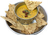 cheddar garden herb sauce served with chips