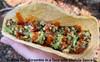Sunrise Tofu Scramble Taco with Cholula