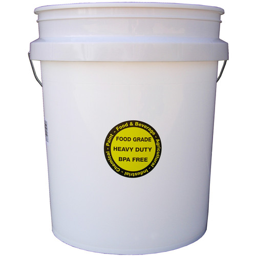 Food Grade BPA-free 5-gallon Bucket with Securely Sealed Lid