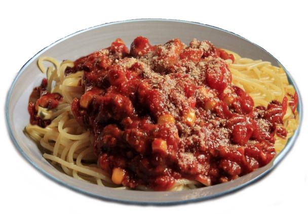 Dehydrated Tomato Spaghetti Sauce with Pasta