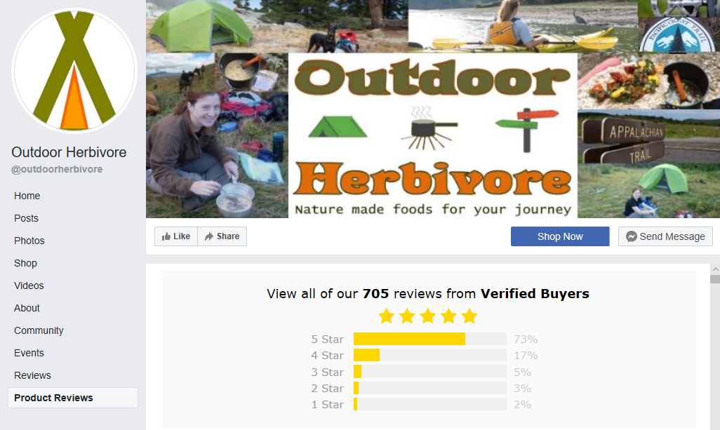 Facebook Reviews Outdoor Herbivore