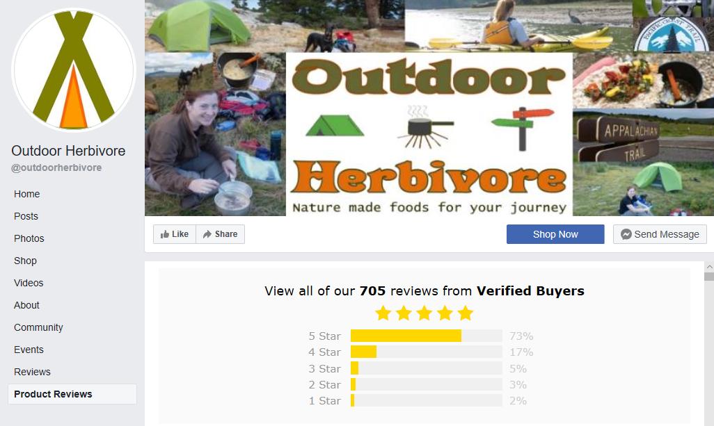 Facebook Reviews Outdoor Herbivore
