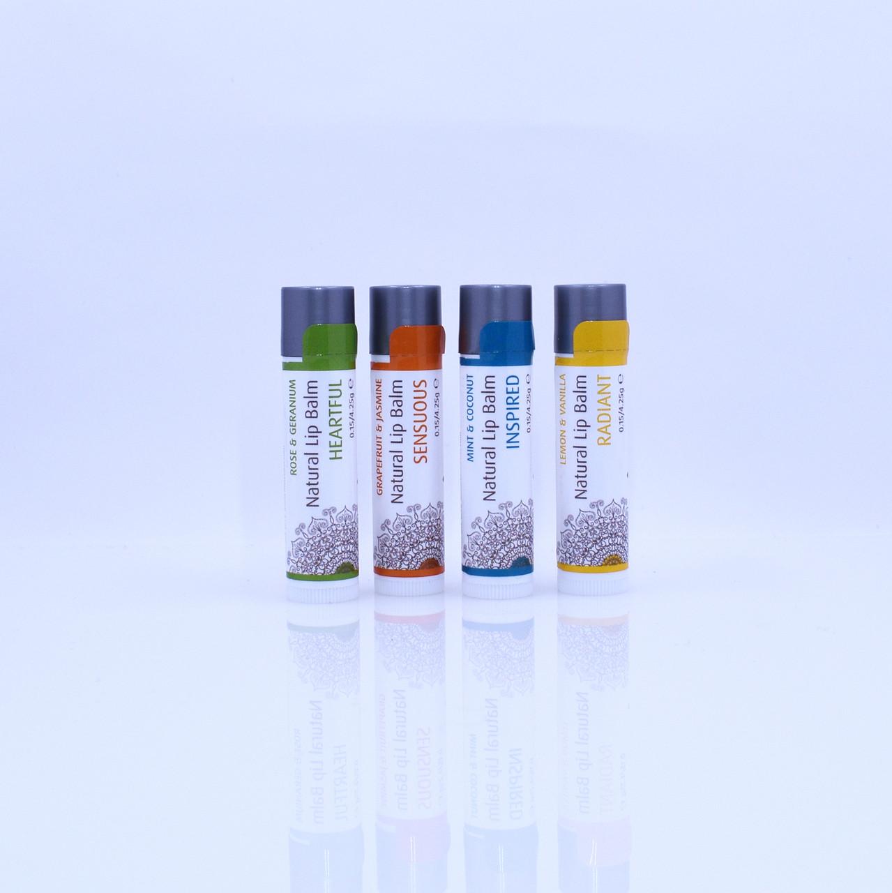 HEARTFUL Organic Geranium & Rose Natural Lip Balm