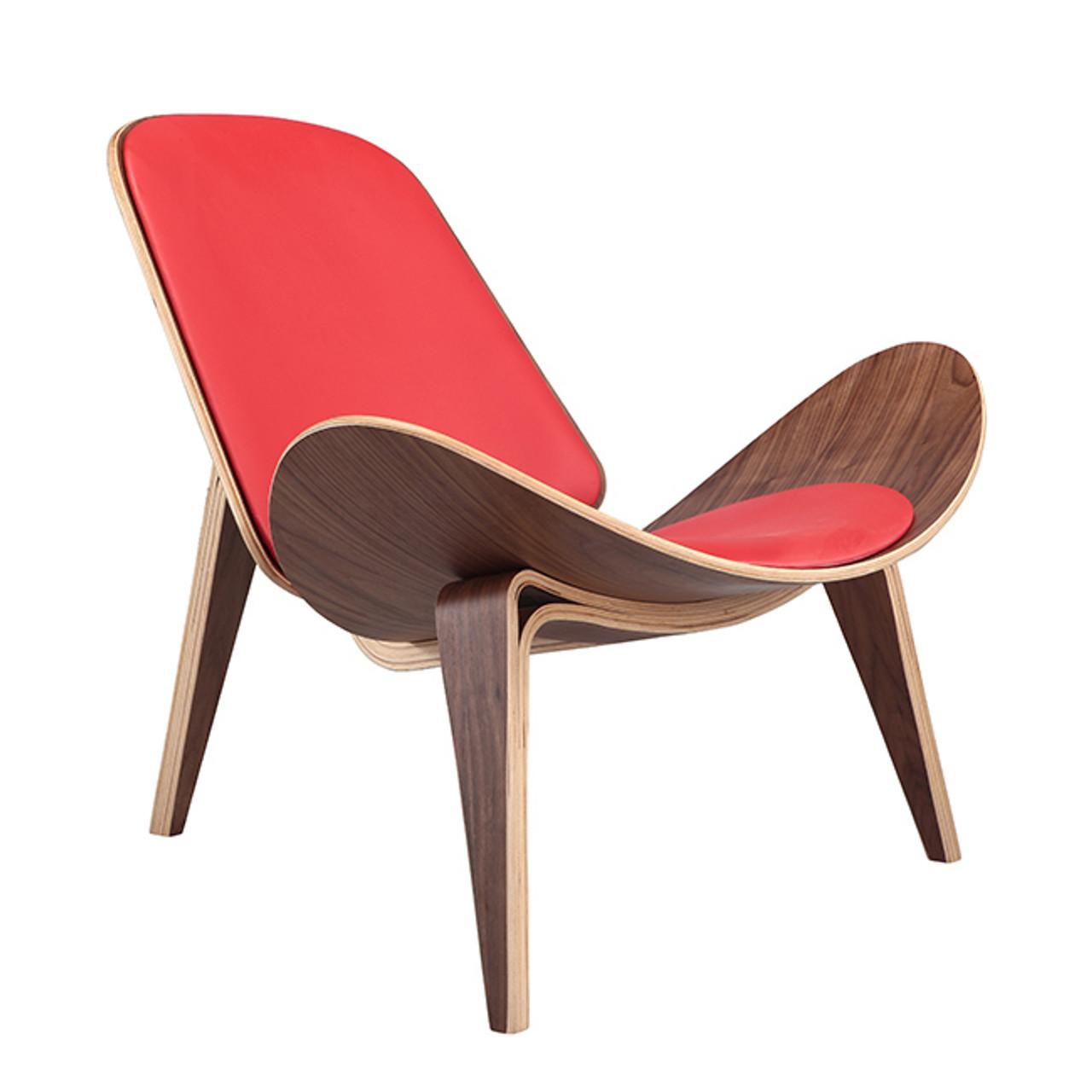Orange shell chair