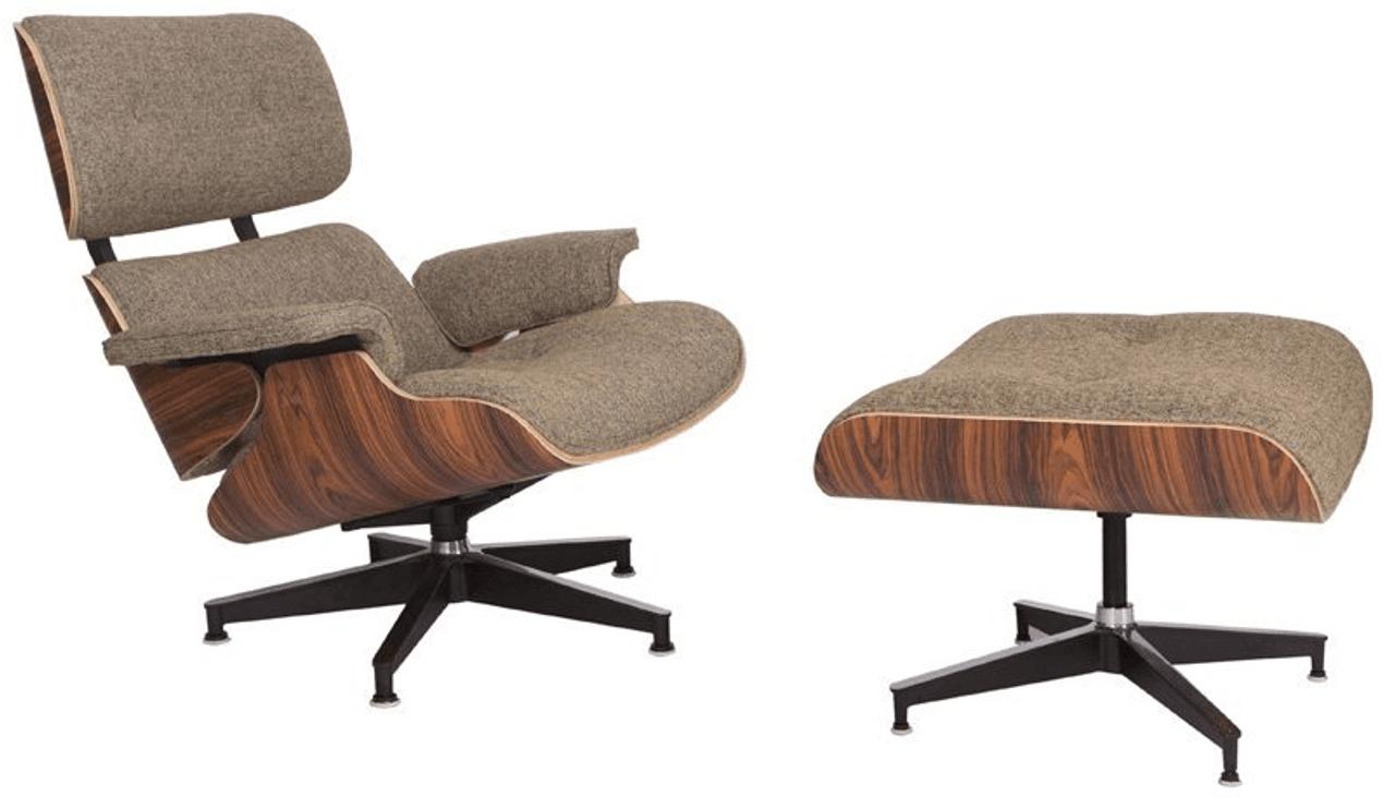 Classic Lounge Chair Oatmeal Wool Manhattan Home Design