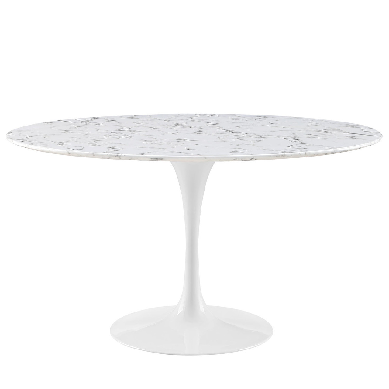 "Lippa 54"" Round Artificial Marble Dining Table"