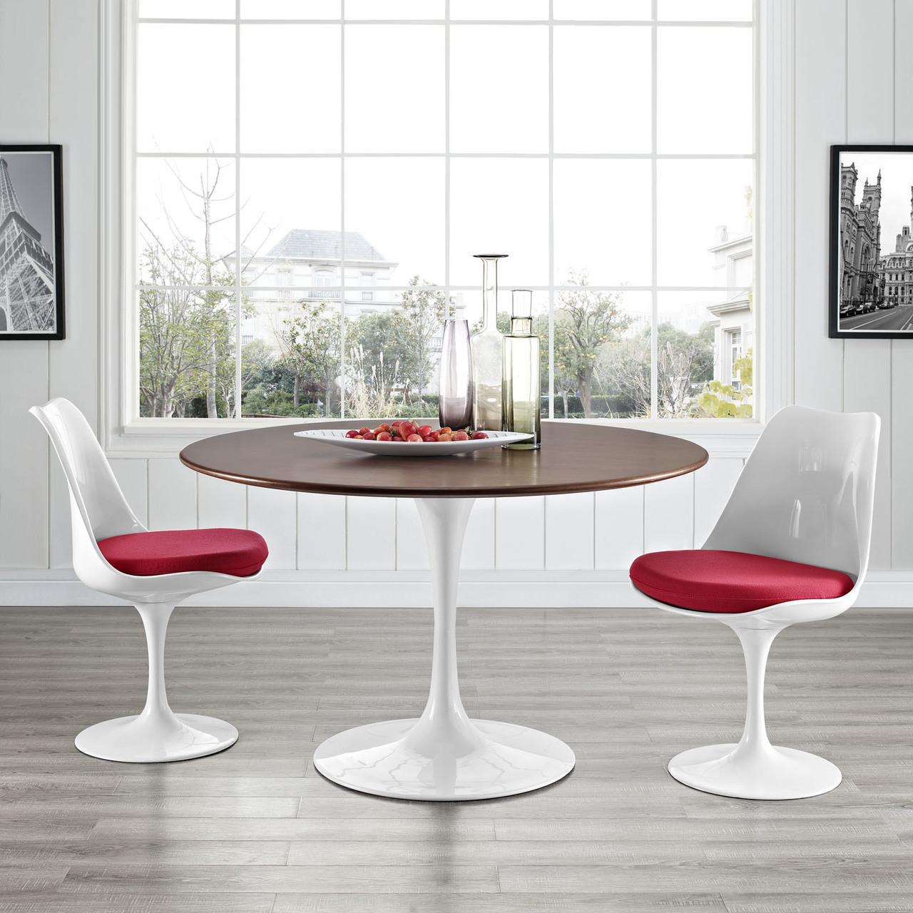 "Lippa 47"" Round Walnut Dining Table"