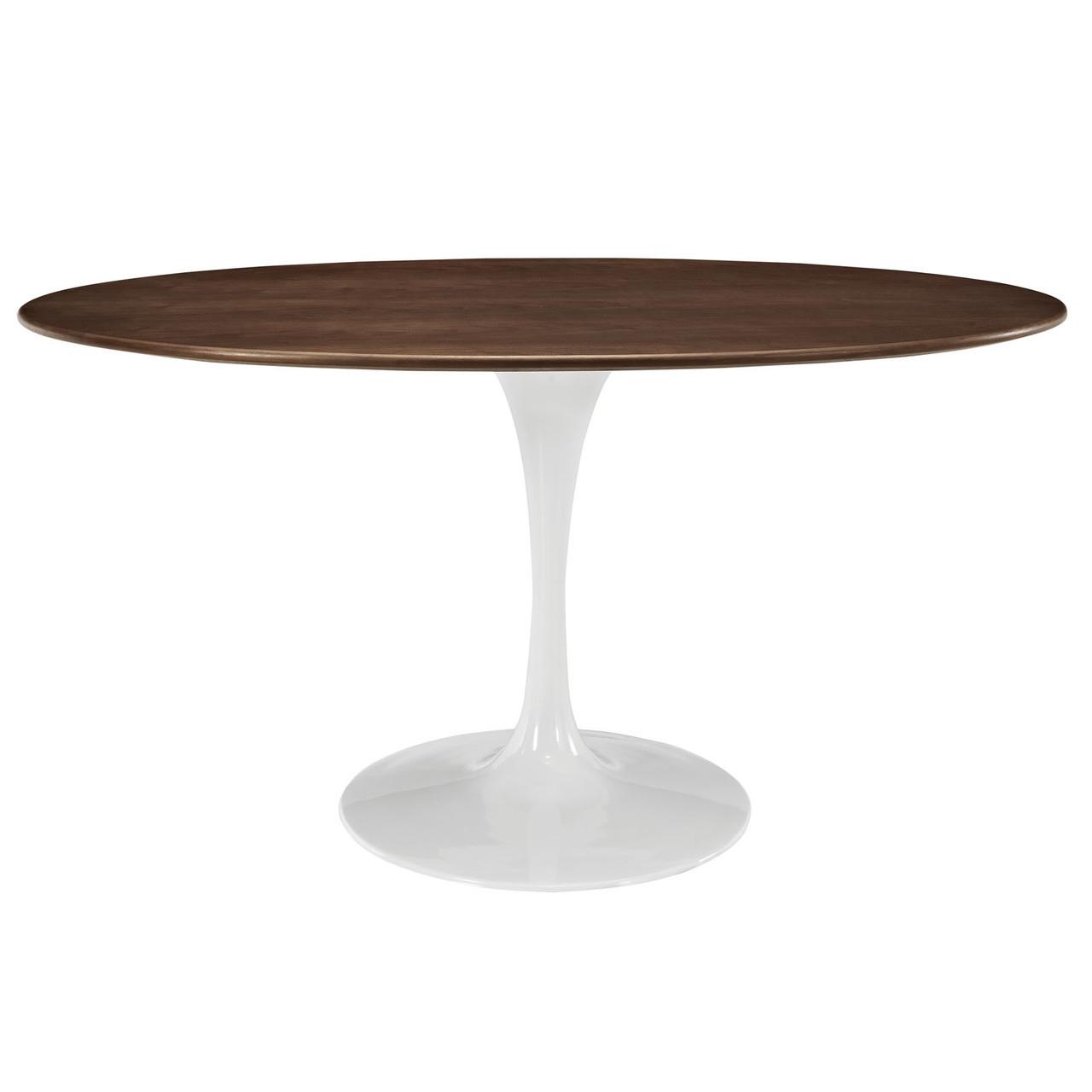 "Lippa 60"" Oval Walnut Dining Table"