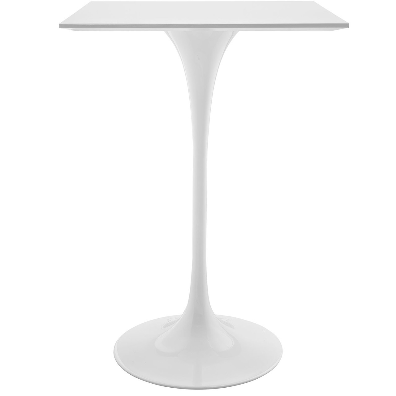 "Lippa 28"" Square Wood Top Bar Table"