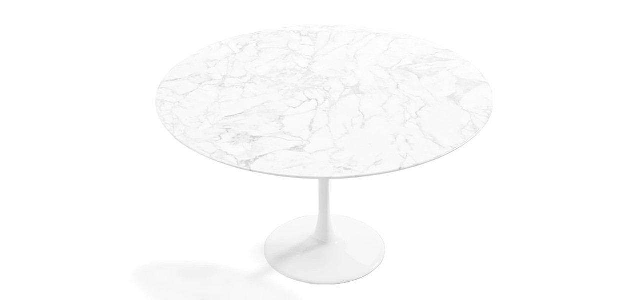 """Tulip 40"""" Round Marble Dining Table"""