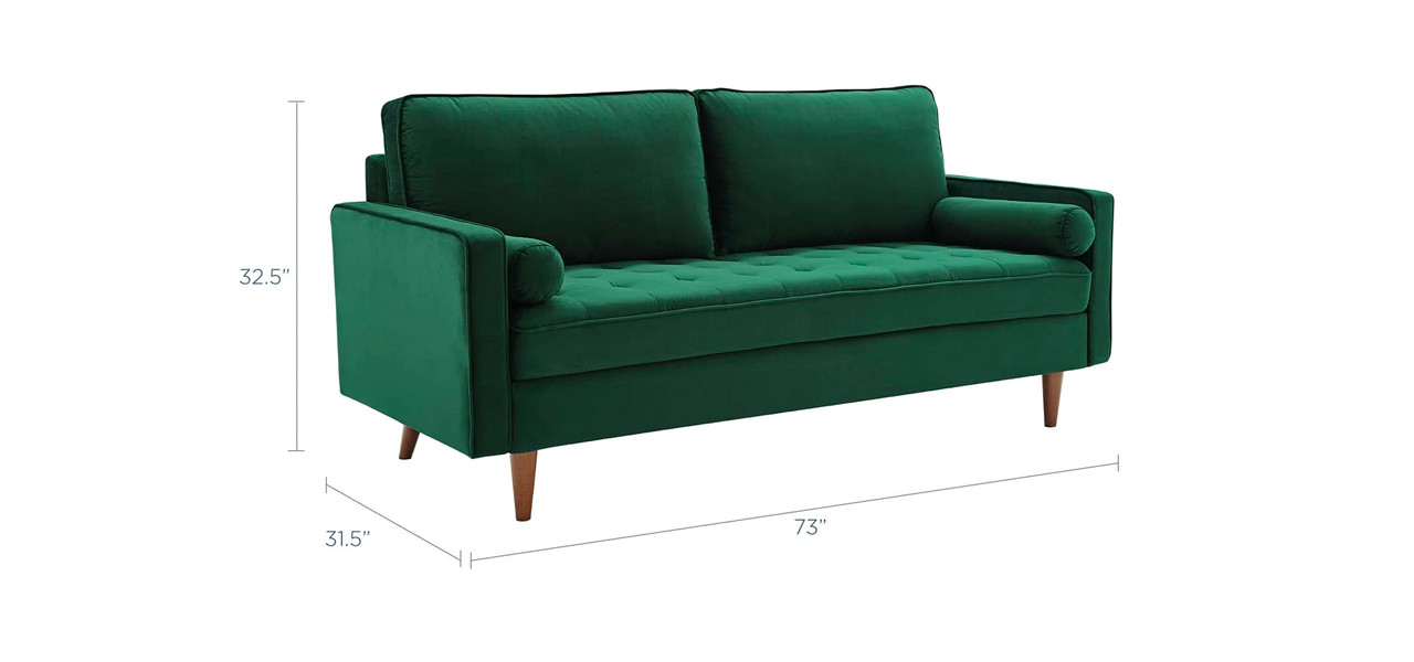 Valour Performance Velvet Sofa