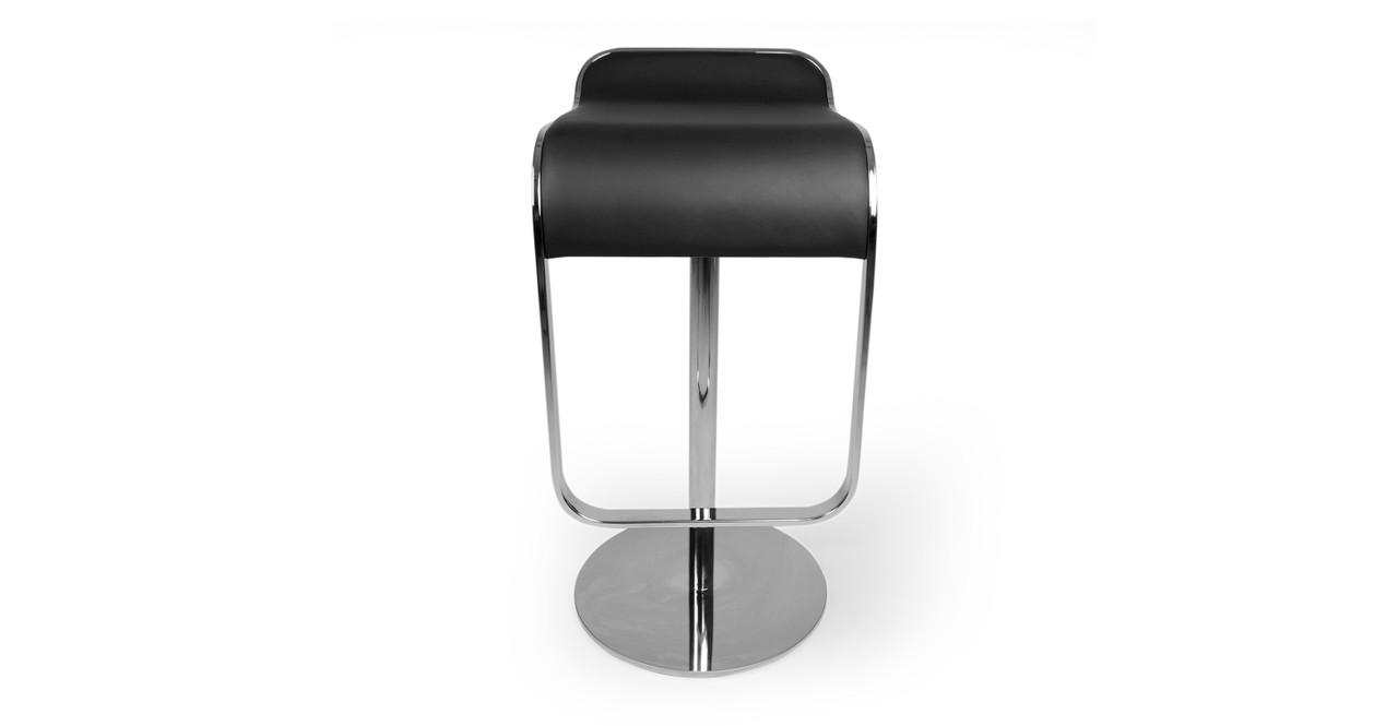 Lem Piston Italian Leather Barstool