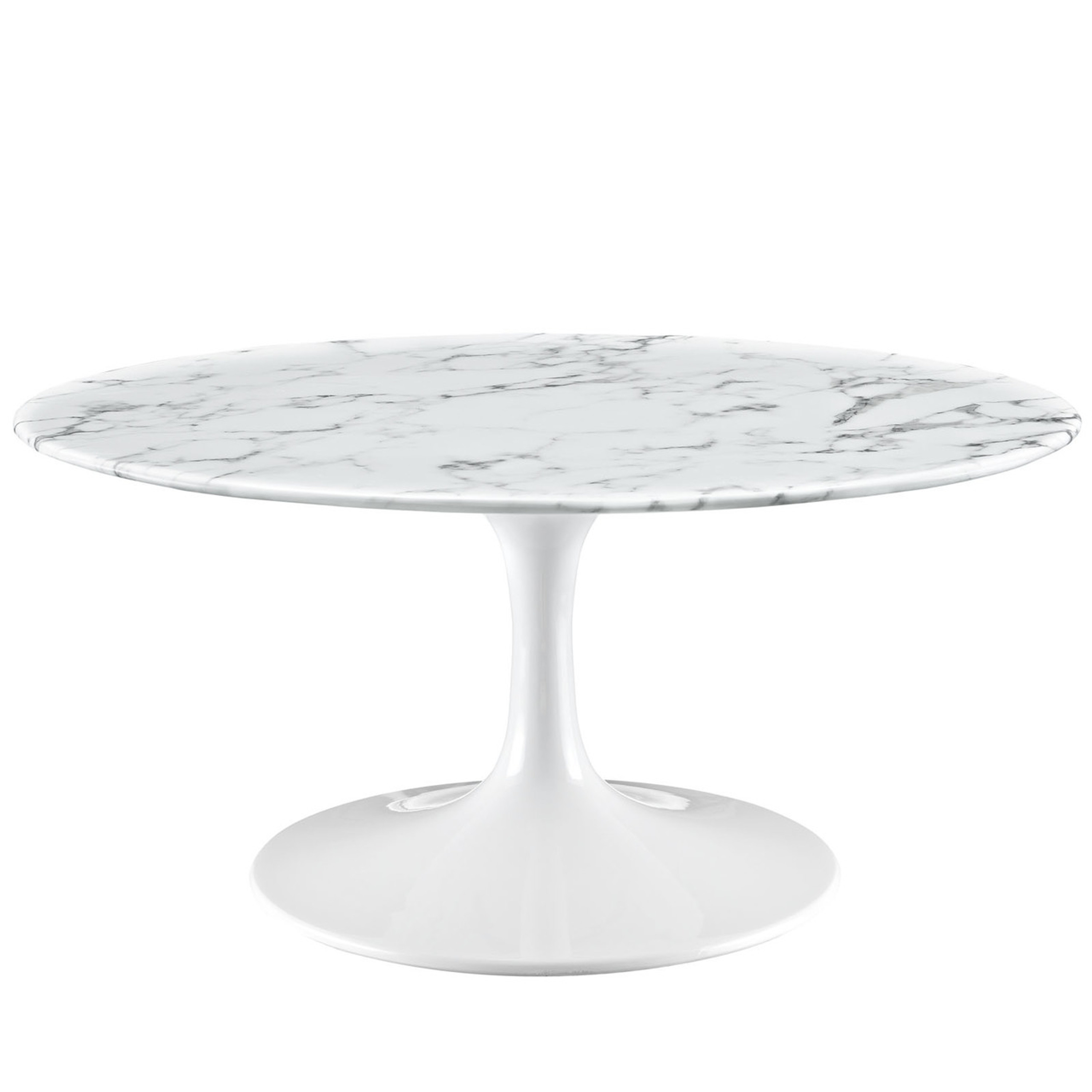 """Lippa 36"""" Artificial Marble Coffee Table"""