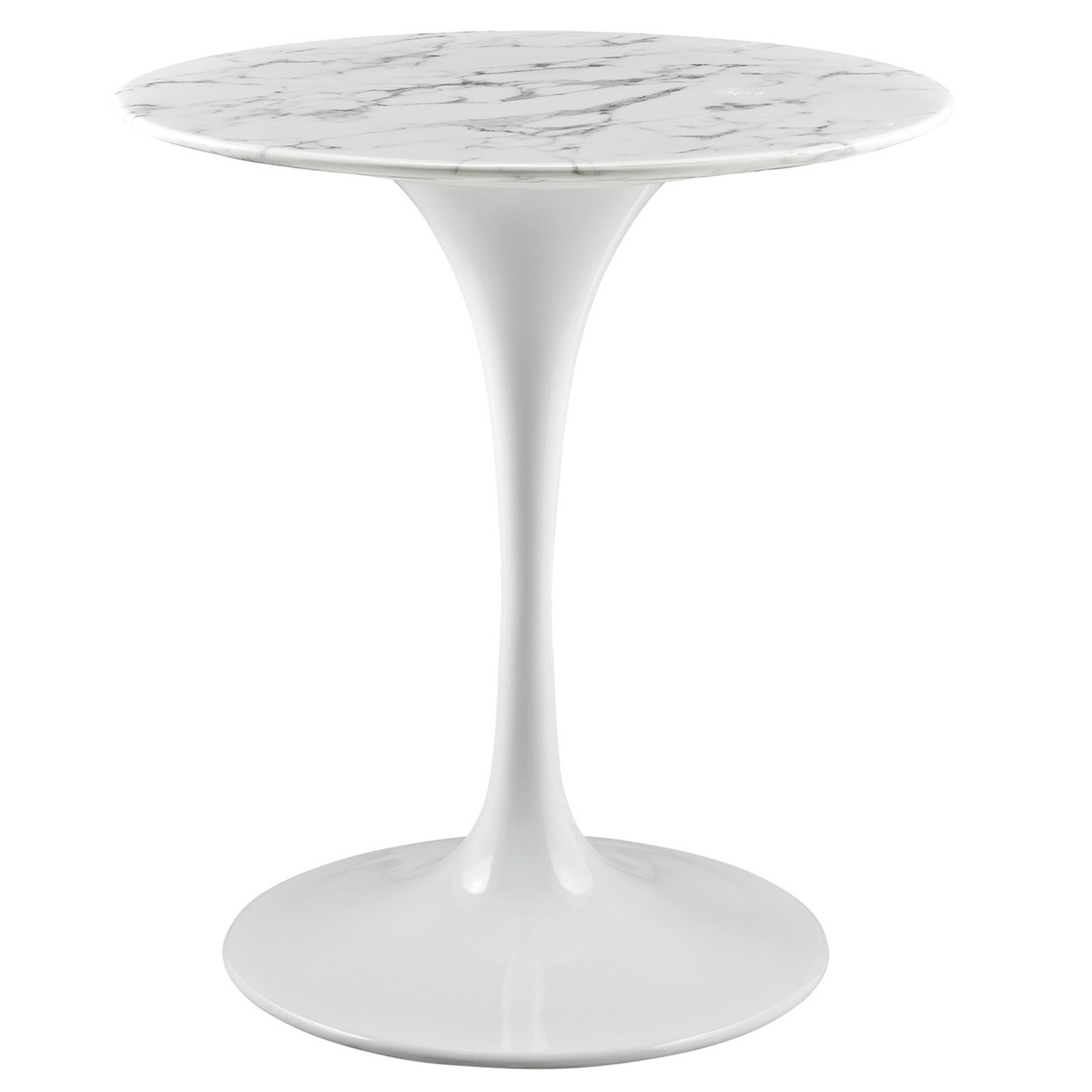 """Lippa 28"""" Round Artificial Marble Dining Table"""