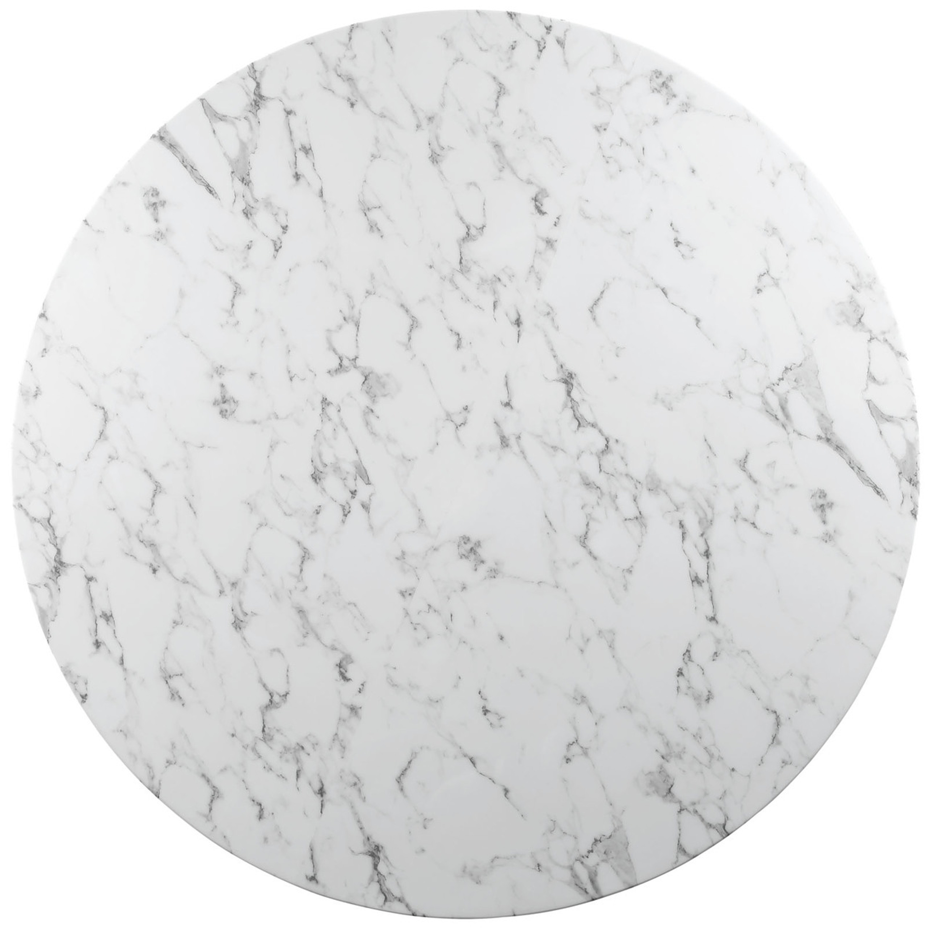 """Lippa 54"""" Round Artificial Marble Dining Table"""