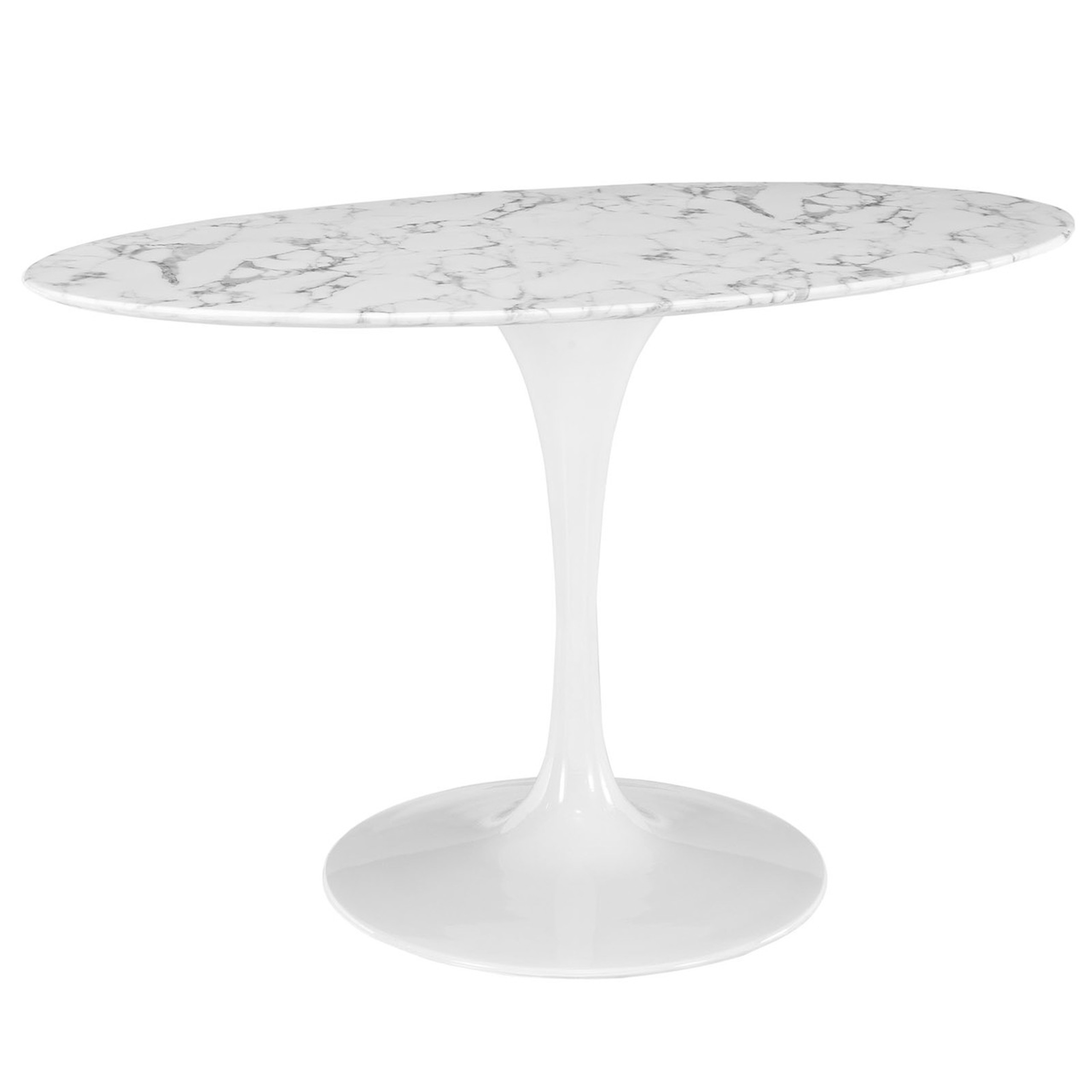 """Lippa 54"""" Oval Artificial Marble Dining Table"""