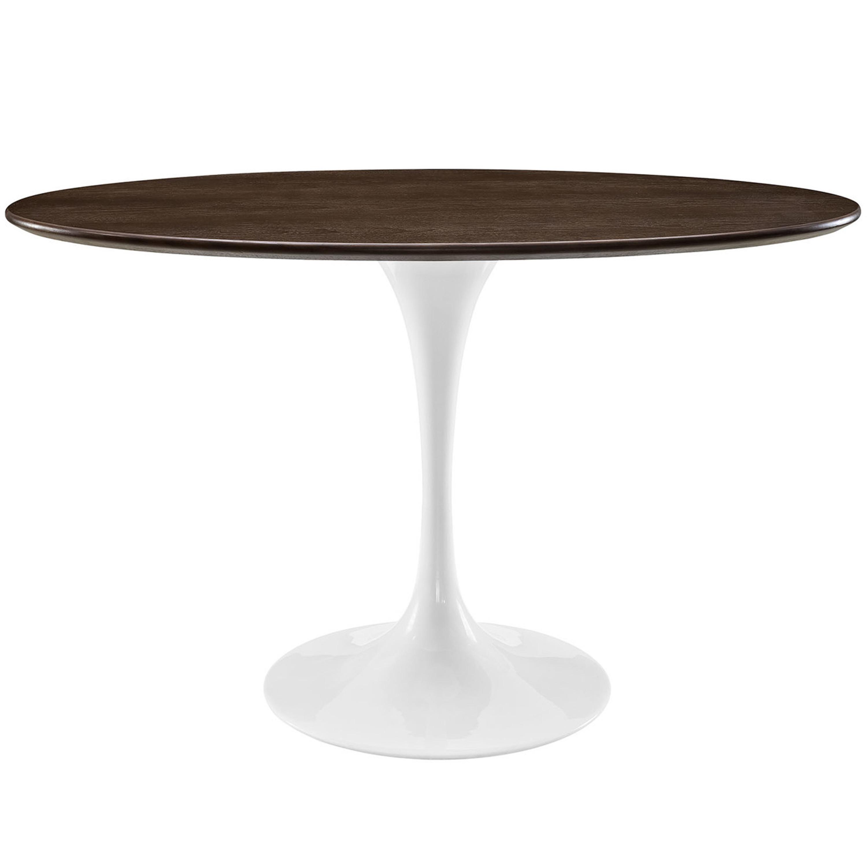 "Lippa 48"" Oval Walnut Dining Table"