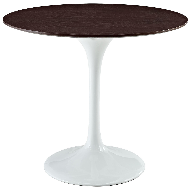"Lippa 36"" Round Walnut Dining Table"