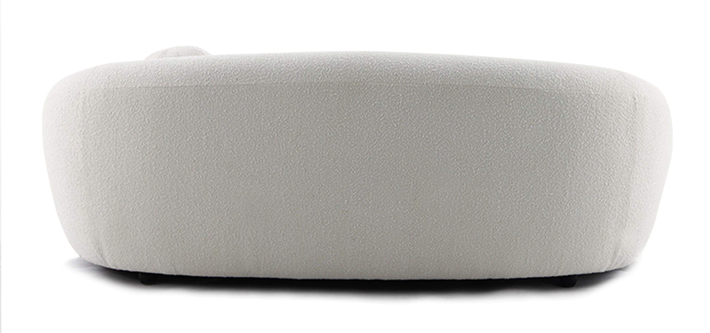 Curved Boucle Sofa Fabric