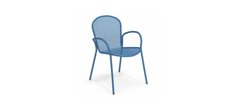 Ronda Steel Metal Patio Dining Chair set of 4