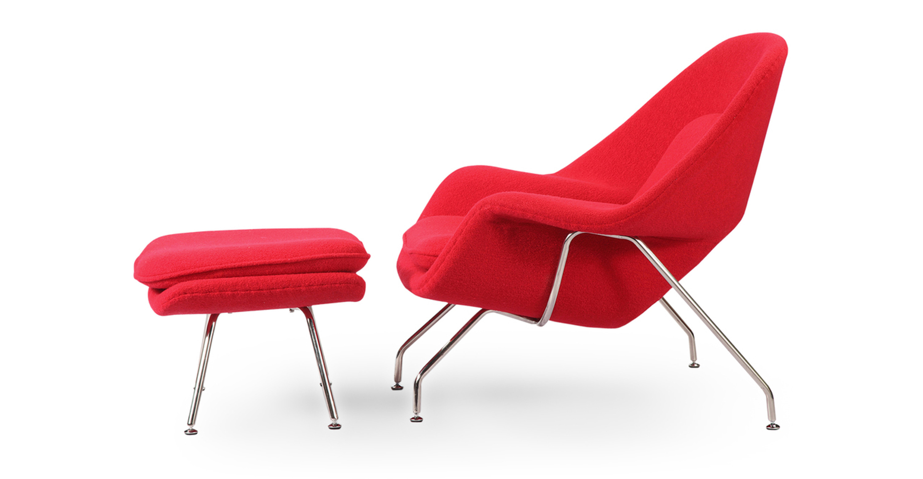Womb Chair & Ottoman red
