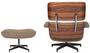 Classic Lounge Chair & Ottoman - Oatmeal Wool