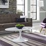 "Lippa 42"" Oval-Shaped Wood Top Coffee Table"