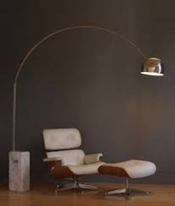The Arco Lamp Combines Marble and Steel in a Masterly Way
