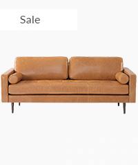 Midcentury Modern Sofa 3 Seater Leather