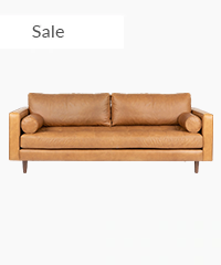 Midcentury Modern Sofa 3 Seater Leather