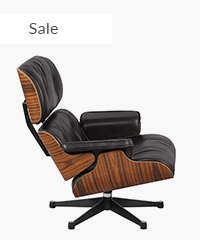 Classic Lounge Chair & Ottoman Black