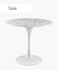 Tulip Table Replica - Round Marble Side Table