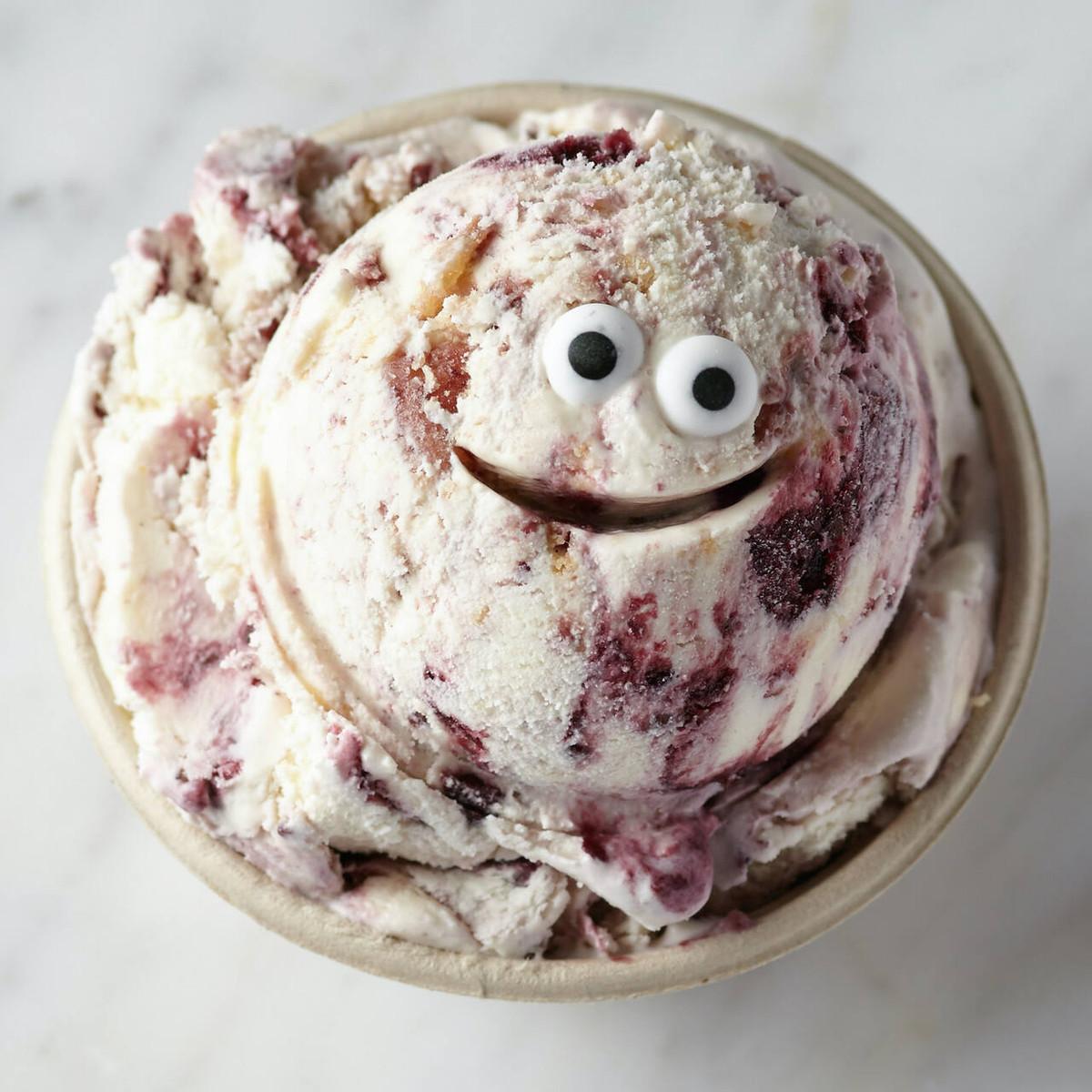 Lemon Blackberry Crumble Ice Cream