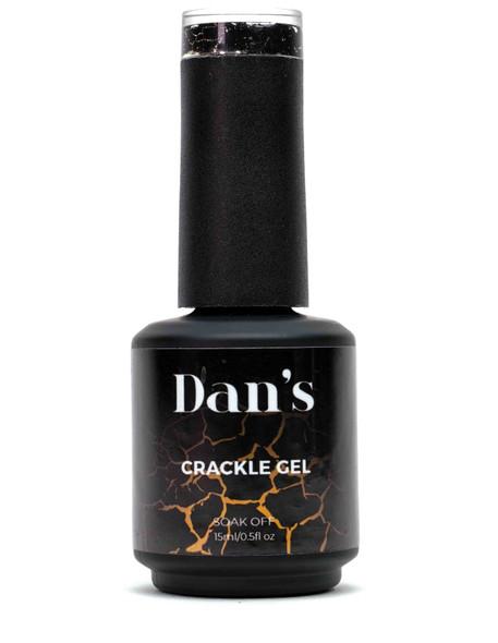 Black Crackle Gel Nail Polish | Shop Dan's Nails Today