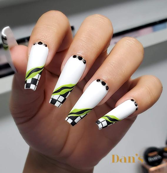 White gel Nail Polish Designs