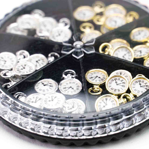 3D Clock Design Charm Nail Art Decoration
