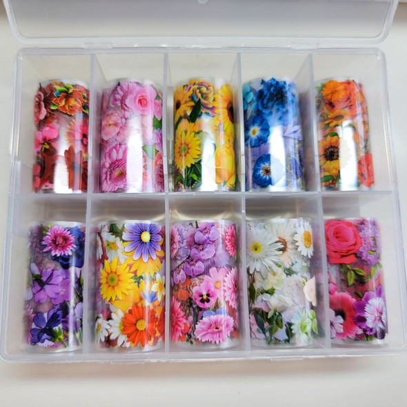 Mixed Flowers Transfer Foil