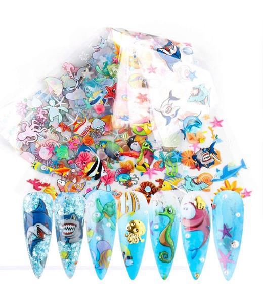 Mixed Sea Fish Animals Foil Paper