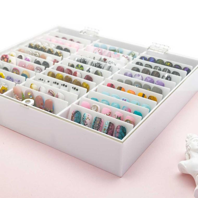 Transparent Plastic Nail Storage Box