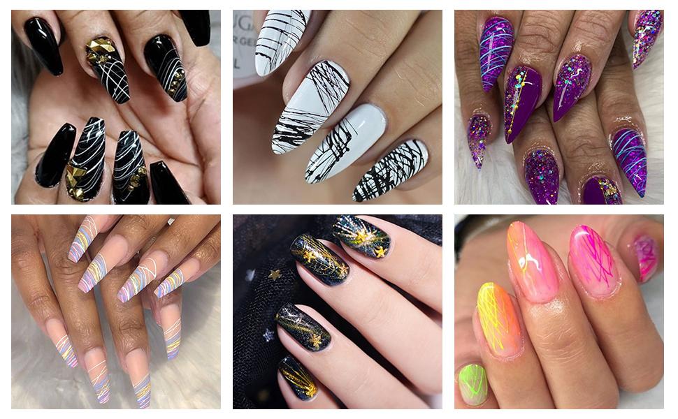 spider gel nail art designs