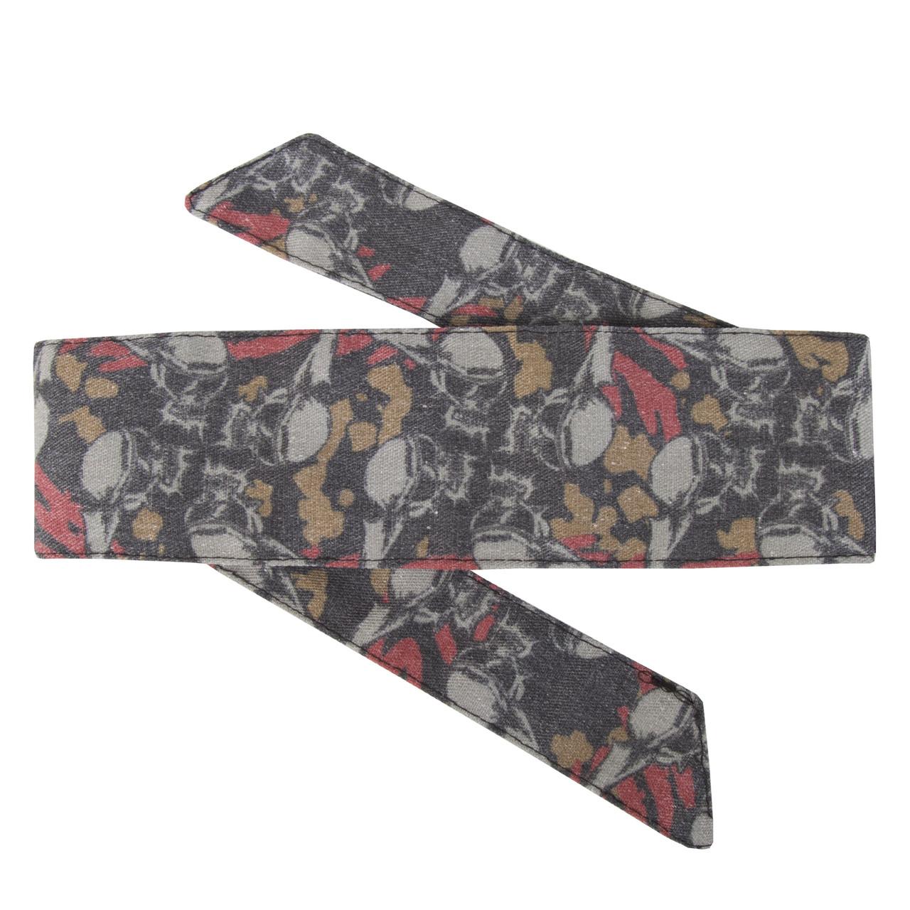 HK Army Headband HSTL Skulls Tan/Red