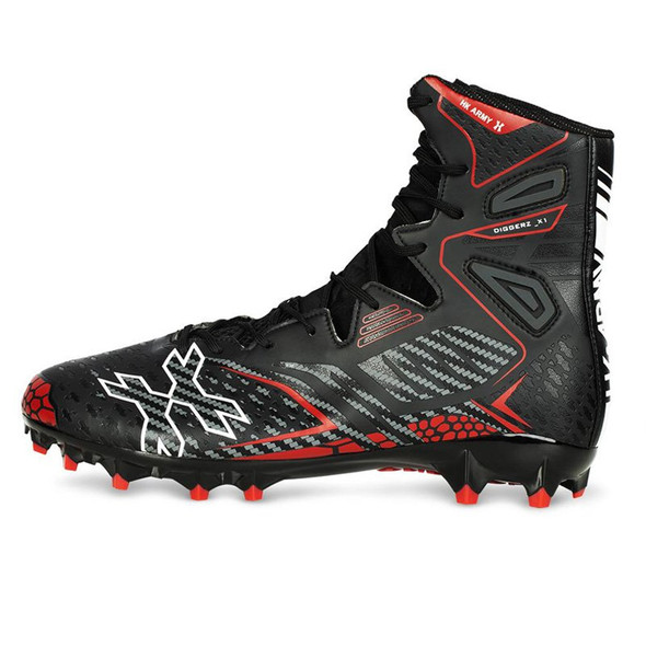 HK Army Diggerz_X1 Hightop Cleats - Black/Red