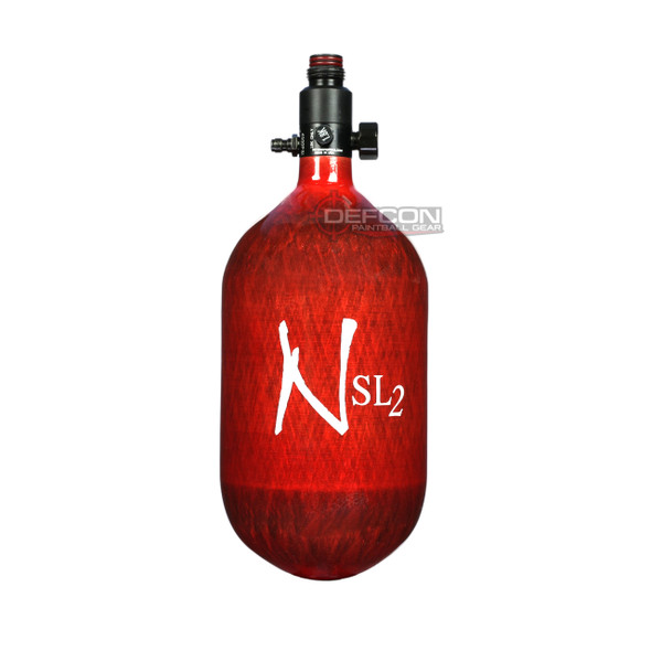 Ninja 68/4.5k SL2 Super Light HPA Paintball Tank - Red