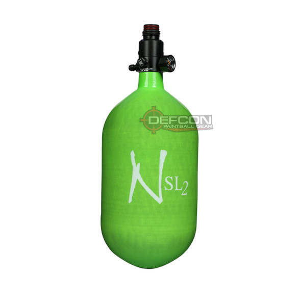 Ninja 68/4.5k SL2 Super Light HPA Paintball Tank - Lime