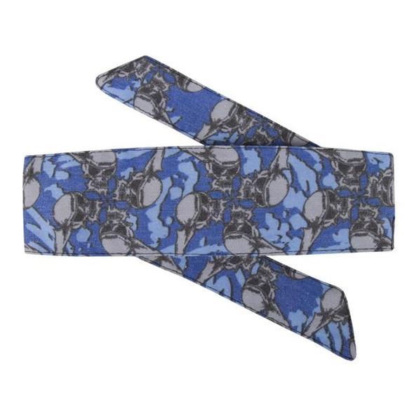 HK Army Headband Hostilewear - Skulls Blue
