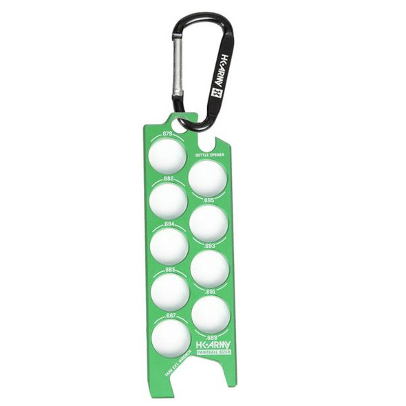 HK Army Ball Sizer Guide / Neon Green