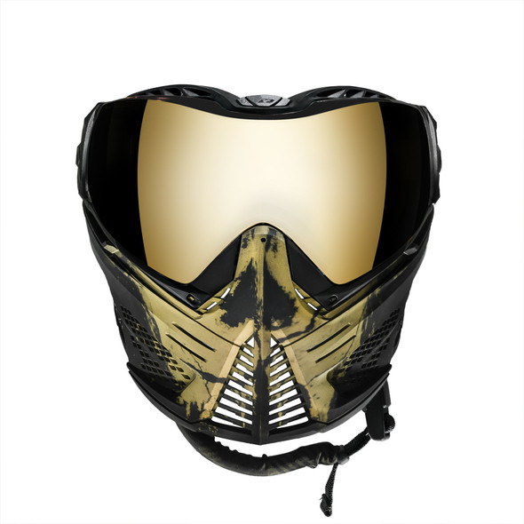 Push Unite Paintball Mask - Infamous Skull Gold